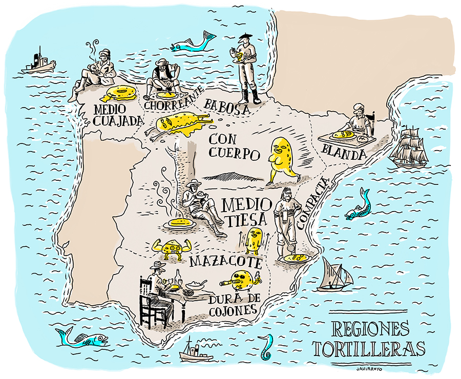 Map Of Javier Spain.Tortilla In Spain Illustrated Map Javirroyo